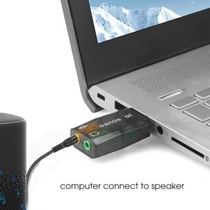Внешняя мини-стереогарнитура с Usb на 3,5 мм микрофон для наушников стереогарнитура 3d Звуковая карта аудио адаптер новый интерфейс для динамика для ноутбука