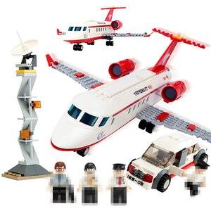 Image 3 - 334pcs GUDI Aereo Building Block giocattolo Privato Getto Daria di grandi dimensioni Modello di istruzione/technic fai da te action figures giocattoli auto per i bambini