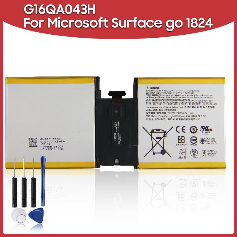 Оригинальный запасной аккумулятор 3411 мАч g16qa043h для microsoft