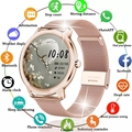 LIGE 2021 Новый смарт-часы для мужчин и женщин с датчиком пульса, приборы для измерения кровяного давления из водонепроницаемого материала; Жен...