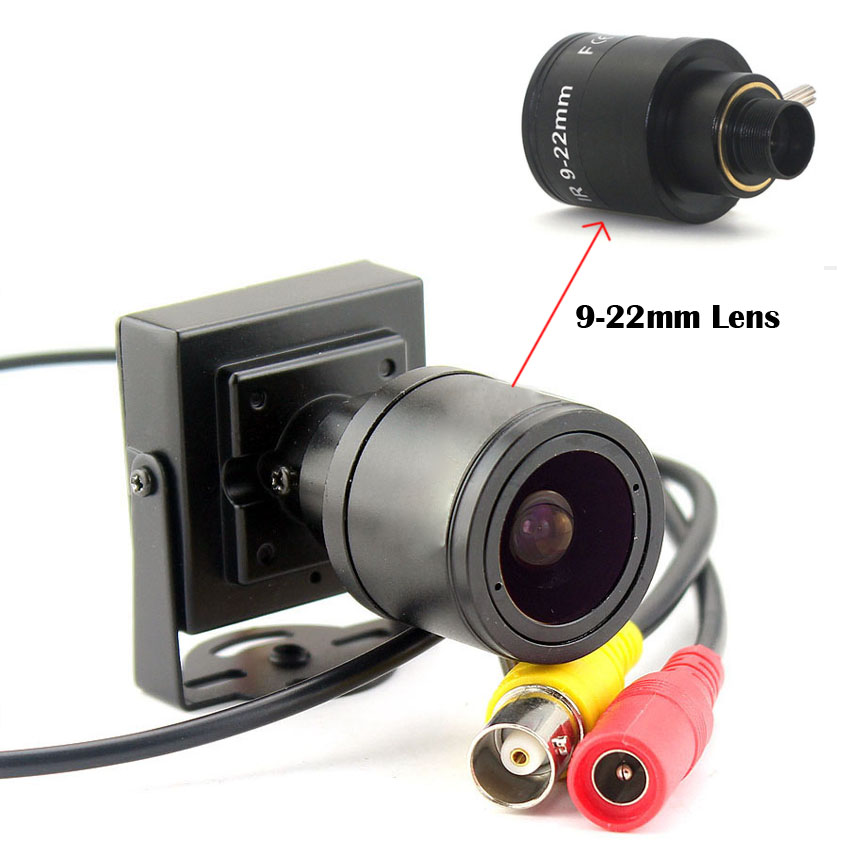 Image 2 - 1200tvl Varifocal Lens Mini Camera 9 22mm Adjustable Lens CCTV Security Surveillance Camera Car Overtaking CameraSurveillance Cameras   -