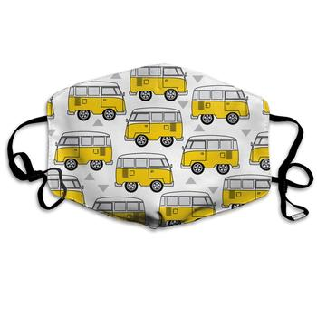 Yellow Camper Washable Reusable   Mask, Cotton Anti Dust Half Face Mouth Mask For Kids Teens Men Women With Adjustable Ear Loops
