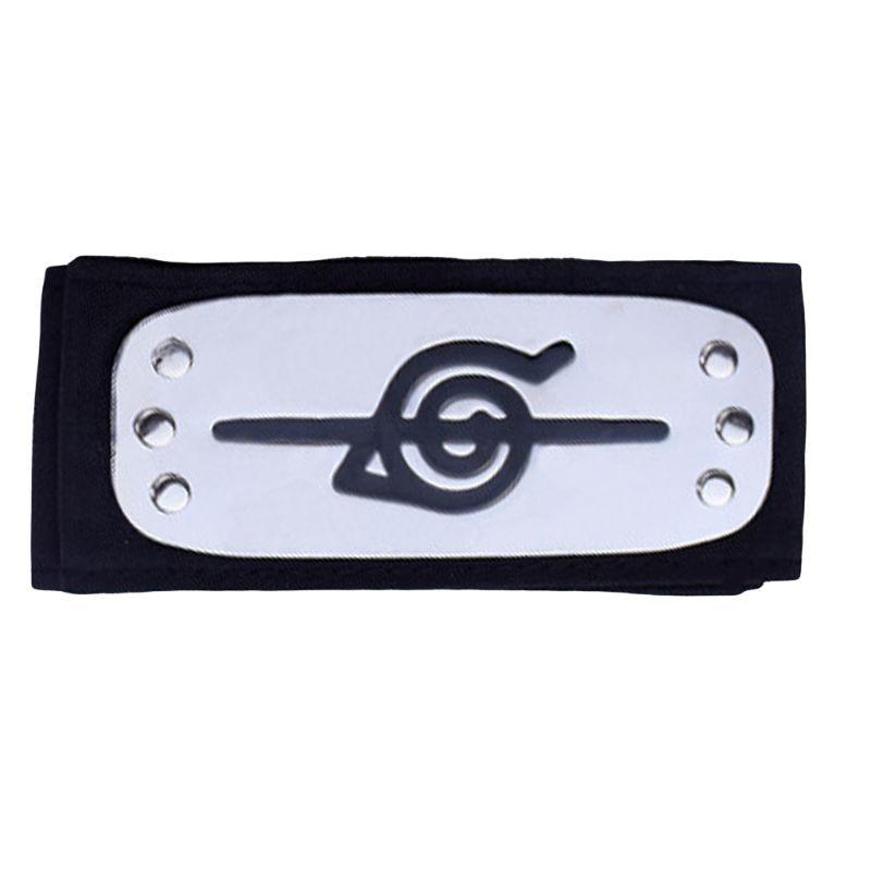 Adult Kids Headband Japanese Anime Logo Metal Plated Hairband Forehead Protector M3GF