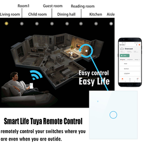 Image 2 - Wifiタッチスイッチ、スマートスイッチ、アプリ無線制御、 2/3 方法、alexaで動作googlehome、eu、英国標準、 1 2 3 4 ギャング