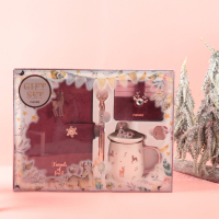 never 2020 New year christmas gift stationery set notebooks metal gel pen mug card holder girls bag Elk Christmas Gifts supplies