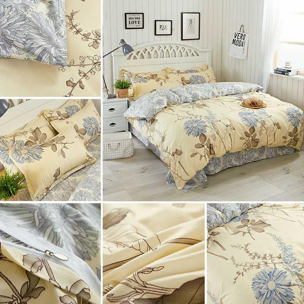 Пасторальный Комплект постельного белья на молнии декоративный моющийся спальный домашний текстиль чехол для подушки с цветочным принтом простыня