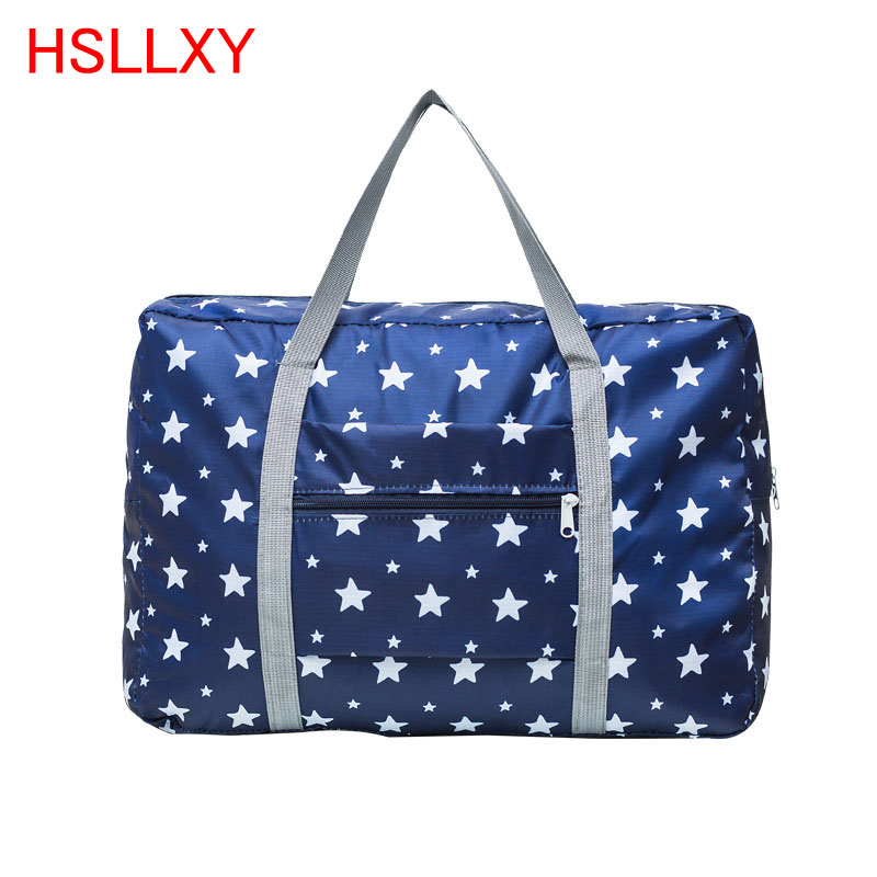 Waterproof Nylon Travel Bags Women Men Large Capacity Folding Duffle Bag Organizer Packing Cubes Luggage Girl Weekend Bag