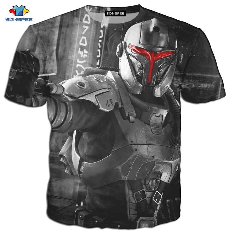 SONSPEE Star Wars T-Shirt Homme Camisetas Hombre Novelty Star Wars New  Hope Robot T-Shirt  T-Shirt 3D Print Male  Funny T-Shirt