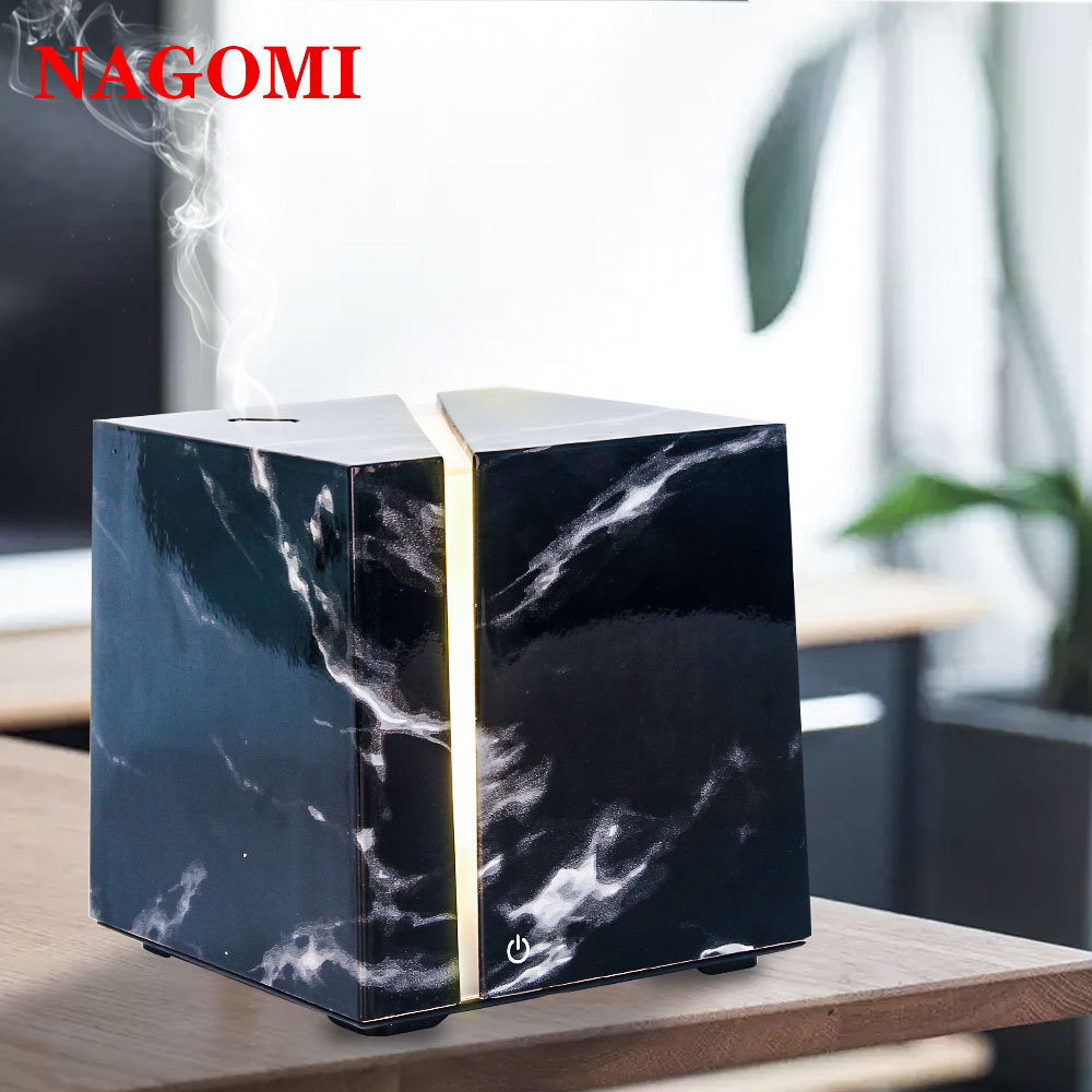 200ml Air Humidifier Marble Grain Ultrasonic Aromatherapy Essential Oil Diffuser LED Light For Home Bedroom