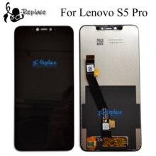 أسود 6.2 بوصة لينوفو S5 برو l580 41/لينوفو S5 برو GT l580 91 شاشة الكريستال السائل مجموعة المحولات الرقمية لشاشة تعمل بلمس استبدال
