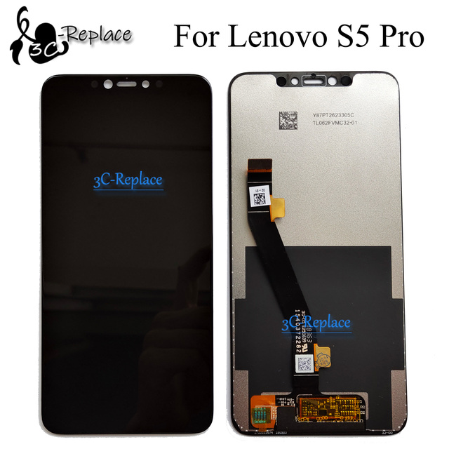 Black 6.2 inch For Lenovo S5 pro L58041 / For Lenovo S5 pro GT L58091 LCD DIsplay Touch Screen Digitizer Assembly Replacement