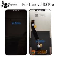 Zwart 6.2 inch Voor Lenovo S5 pro L58041/Voor Lenovo S5 pro GT L58091 Lcd Touch Screen Digitizer vergadering Vervanging