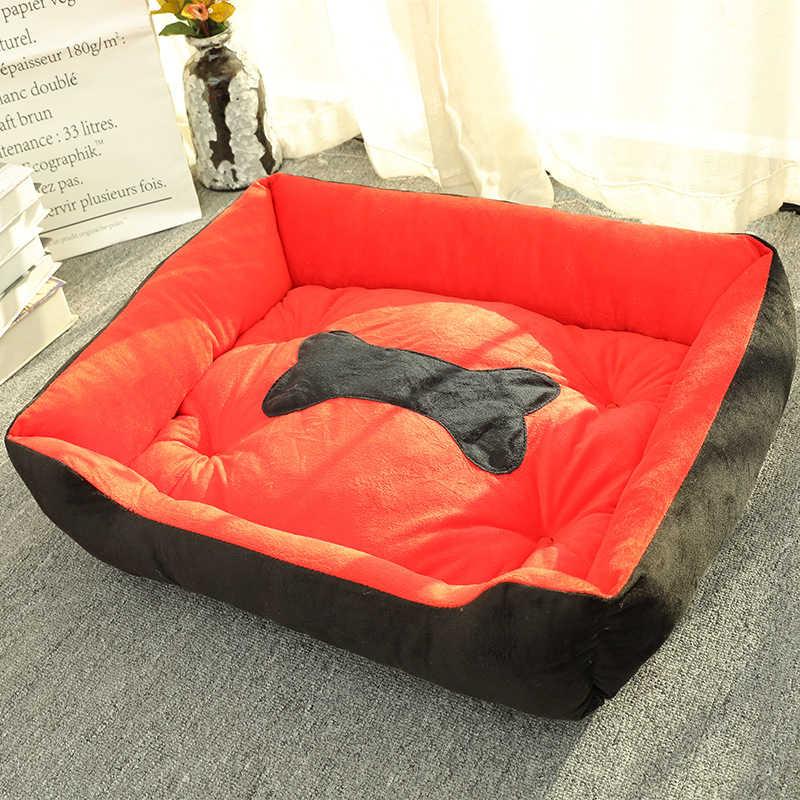 뼈 유형 애완 동물 강아지 침대 개 집 매트 온난 개집 부드러운 둥지 잠자는 따뜻한 개집 애완 동물 용품 고양이 강아지 동물을위한