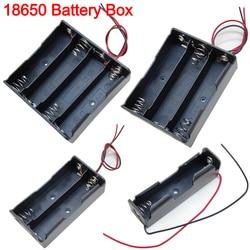 18650 Мощность случаи банковских карт 1x 2x 3x 4x Батарея ящик для хранения, на возраст 1, 2, 3, 4, слот дороги Сделай Сам зажим для батарей держатель Ко...