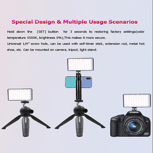 Image 5 - Dimmable RGB LED Video Light Extend Cold Shoe for Microphone DSLR Light Photography Lighting