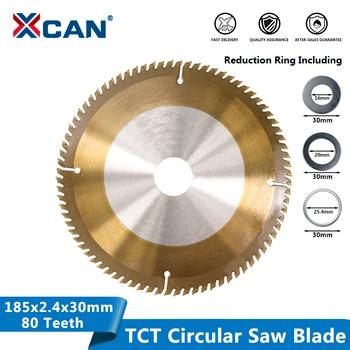 цена на XCAN Circular Saw Blade 185x30mm 80Teeth TCT Blades Carbide Tipped Saw Blade Woodworking Tools Wood Cutting Disc