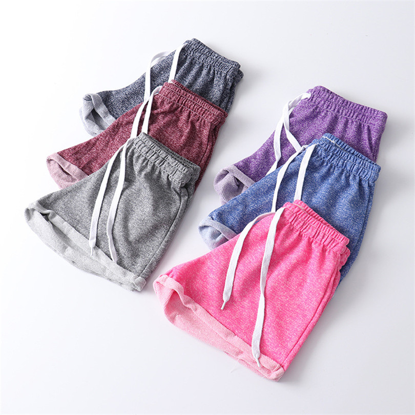 YGYEEG Women Sports Hot Shorts Summer New Style Causal Lady Cuffs Cotton Sexy Home Short Elastic Women's Fitness Loose Shorts