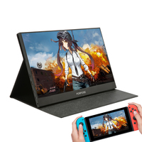 PORPOISE thin portable lcd hd monitor 17.3 usb type c hdmi for laptop,phone,xbox,switch and ps4 portable lcd gaming monitor