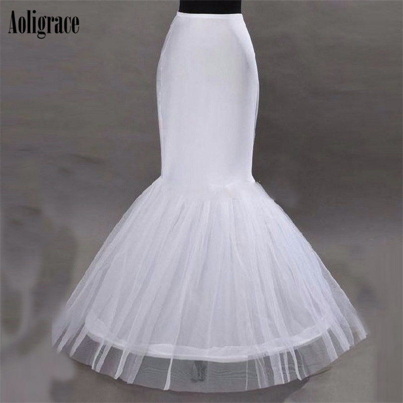 Wholesale Price Mermaid One Hoop Petticoats White Wedding Accessories Add Volume Cheap Petticoat For Wedding Bride Skirt