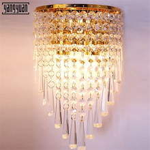 Modern Crystal Wall Light Simple Bedroom Living Room Bedside Avenue K9 Gate LED Lamp mirror lights
