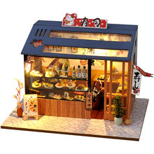CUTEBEE DIY Doll House Wooden Doll Houses Miniature dollhouse Furniture Kit Toys for children Christmas Gift TD28