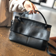 Handmade cowhide female bag retro ladies shoulder bag soft leather handbag first layer cowhide small bag цена 2017