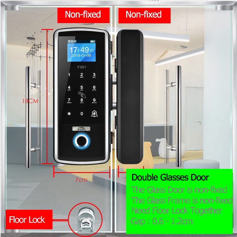 H86ff567fc1af4be4b45c8592b87f52dcD Smart Door Fingerprint Lock Electronic Digital Gate Opener Electric RFID Biometric finger print security Glass Password Card