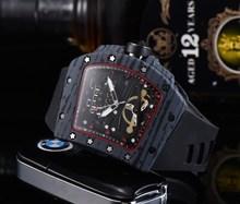 2020 AAA Richard automatyczny zegarek RM męskie zegarki Top marka Mille luksusowy zegarek kwarcowy pasek silikonowy Tonneau kształt T6 tanie tanio ANGLANG QUARTZ Przycisk ukryte zapięcie CN (pochodzenie) Wolfram stali 10Bar Luxury ru 22mm Skrzyni ładunkowej 15mm Odporny na wstrząsy