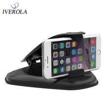 Univerola Premium Quality Dashboard Car Phone Holder Silicone Stand Mount Good Sight Display GPS Support
