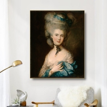 Canvas Oil Painting《Portrait of the Duchess of Beaufort》Thomas Gainsborough Poster Wall Decor Home Decoration For Living room