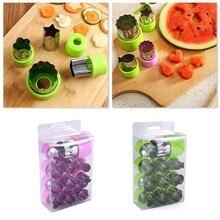 12 pçs/set decoração de alimentos bonito shaper durável cozinha ferramenta cortador molde bolo corte frutas vegetais diy corte cortador conjunto