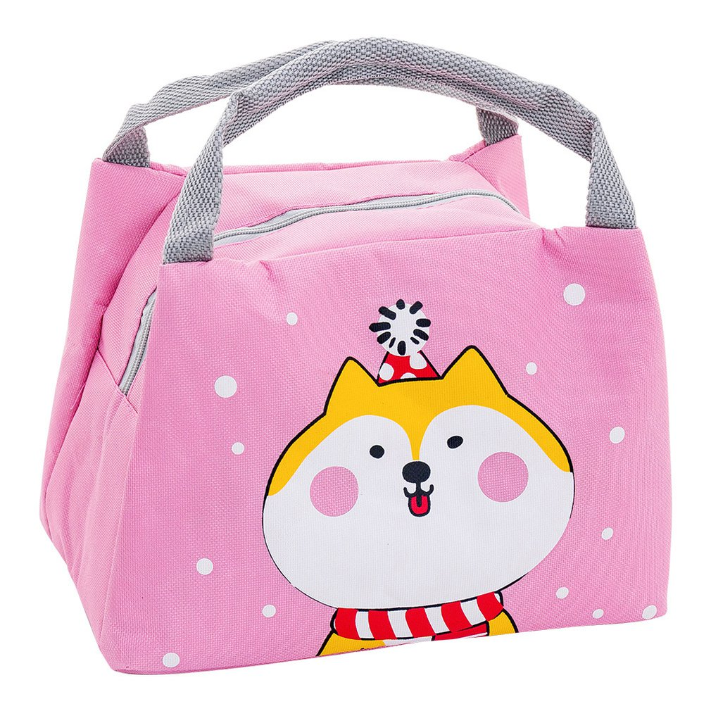 Cute Portable Small Lunch Box Bag Outdoor Insulation Package Thick Winter Warm Insulation Package Lunch Bag