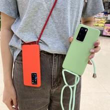 Cuero collar de silicona líquida para Huawei P20 P30 P40 P10 Mate 30 20 10 Lite 9 Pro Y8P Y7P Y6P Y5P 2018 cubierta suave