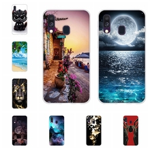 For Samsung Galaxy A40 Case Soft TPU Silicone SM-A405F Cover Cute Patterned Funda