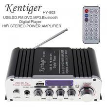 Kentiger HY 803 2CH سيارة HIFI بلوتوث mp3 مكبر للصوت خزف الصوت ستيريو سيارة مكبر كهربائي راديو FM لاعب