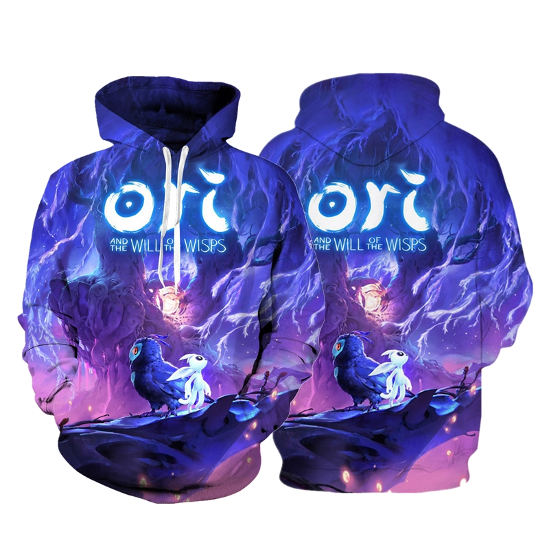 3d Digital Printing Ori And The Will Of The Wisps Hoodie Sweatshirt Cosplay Costume Women Men Couple Hood Top Clothing New