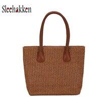 цены Women Handbag Large-capacity Totes straw bag 2019 beach holiday beach bag Korean wind woven shopping bag Autumn And Winter New