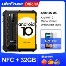 Ulefone X5 Etui pancerne na telefon komórkowy IP68 MT6762 3GB 32GB 4G LTE, wytrzymała powłoka, android 10, wodoodporność, smartfon, komórka, procesor ośmiordzeniowy, NFC