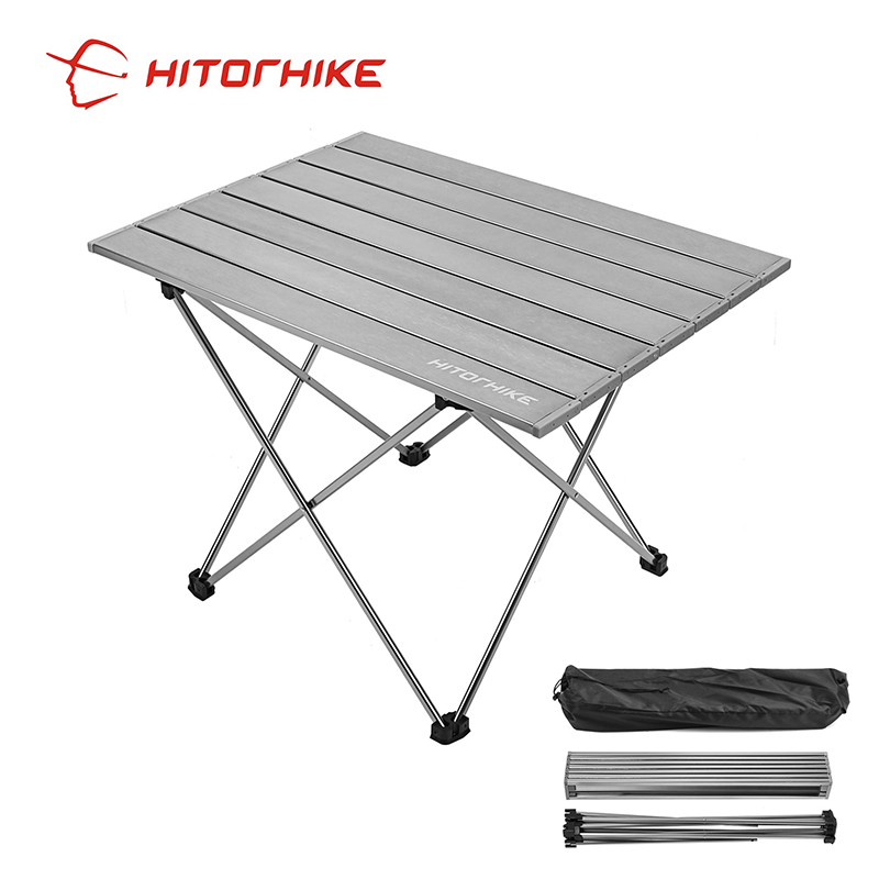 Portable Table Folding Camping Table Desk Foldable Hiking Traveling Outdoor Garden Picnic Table Al Alloy Ultra-light