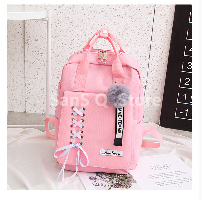 Bags Oxford Backpack Ribbon Girl School Harajuku For Teenage College Women Schoolbag High Student Bag