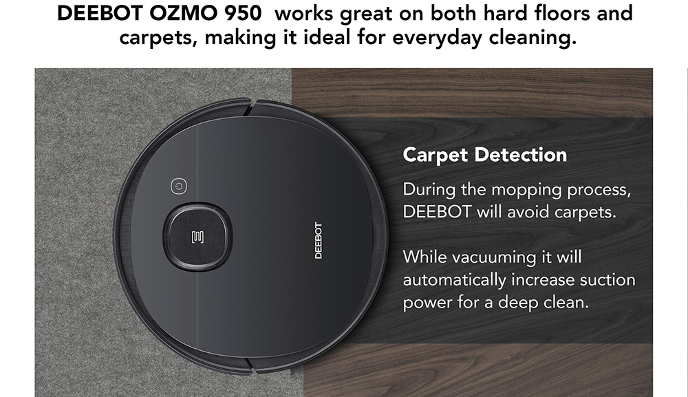 Popular Ecovacs Deebot Ozmo 950 Vacuum Robot Cleaner With Multi Floor Mopping Cleaning Robot