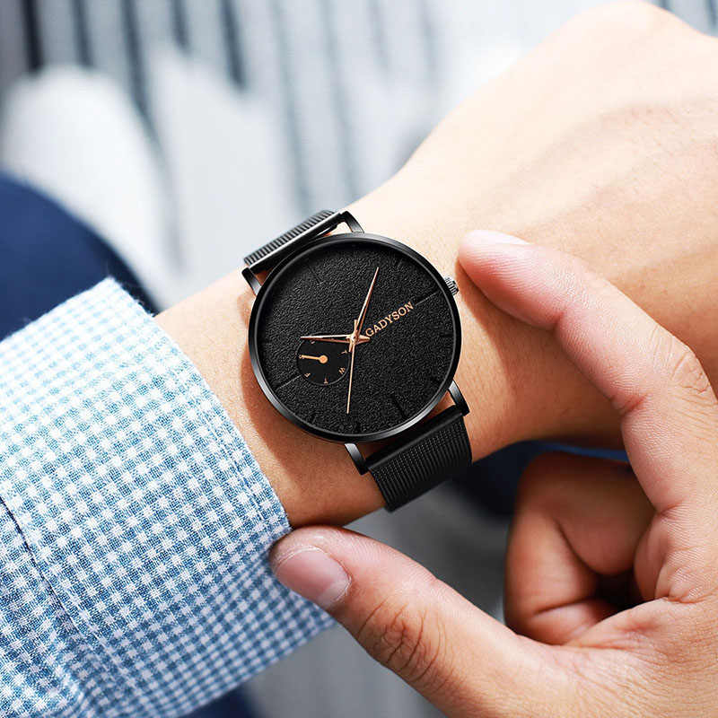 2019 גברים שעונים איש עסקים קוורץ שעונים יוקרה למעלה מותג זכר שעון פלדה קלאסי יד שעונים לגברים שעוני יד
