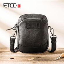 Aetoo мужские сумки через плечо Мини кожаные повседневные