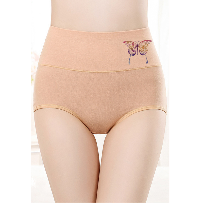 Cotton women's briefs butterfly Body Shaping underwear  high waist panties