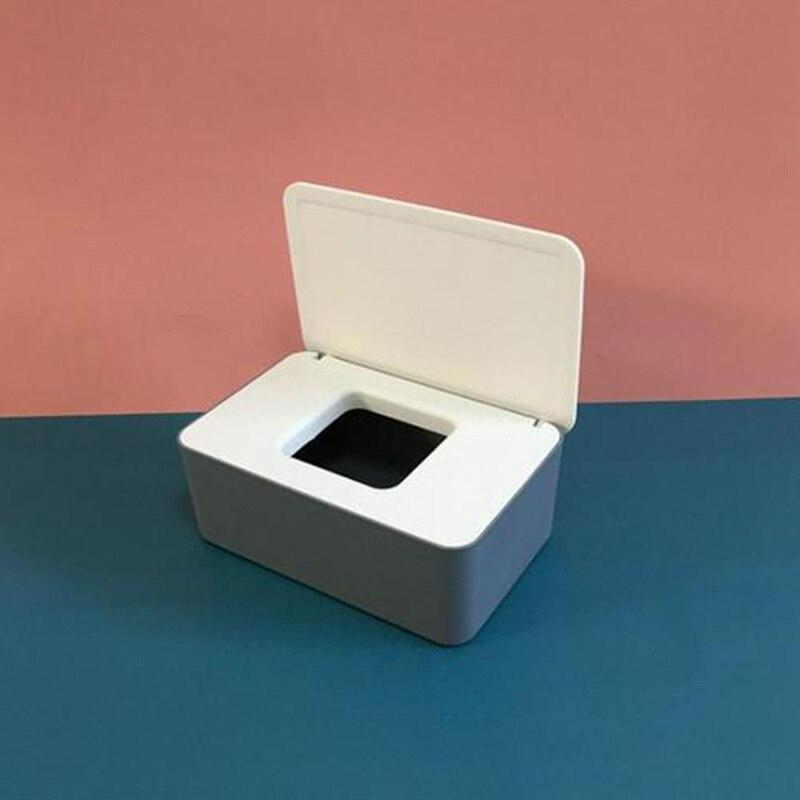 Toalhetes molhados dispensador titular com tampa tecido caixa de armazenamento de papel de escritório em casa máscara facial caixa de armazenamento de tecido de mesa caso de armazenamento|Cestos e caixas de armazenamento|   -