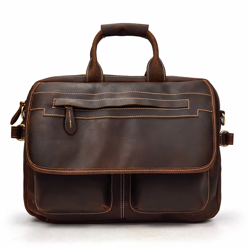 Luufan High Qaulity Men Briefcase Bag Genuine Leather Man Crossbody Messenger Bags Vintage Handbags Doctor Layer Teacher Day Bag