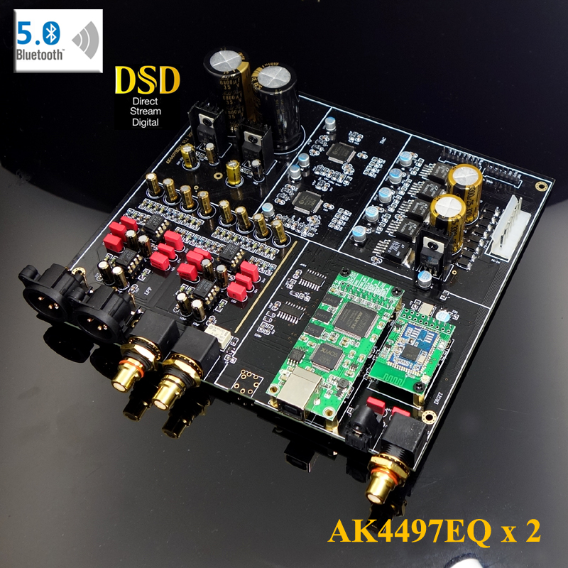 Dual-core AK4497 DAC Decoder Suite Supports DSD Bluetooth 5.04-layer Gold-plated PCB