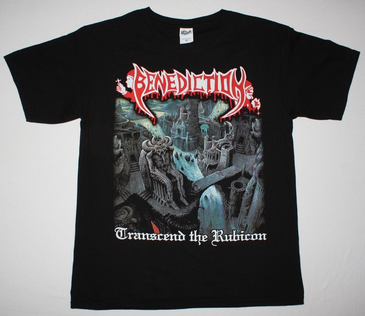 BENEDICTION TRANSCEND THE RUBICON DISMEMBER DEATH METAL NEW BLACK T SHIRT Summer O Neck Tee,100% Cotton Classic tee