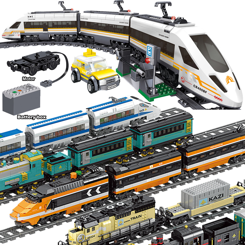 641pcs Technic Battery Powered Electric City Train Fuxing High-speed Rail Building Blocks Brick Gift Toy For Children