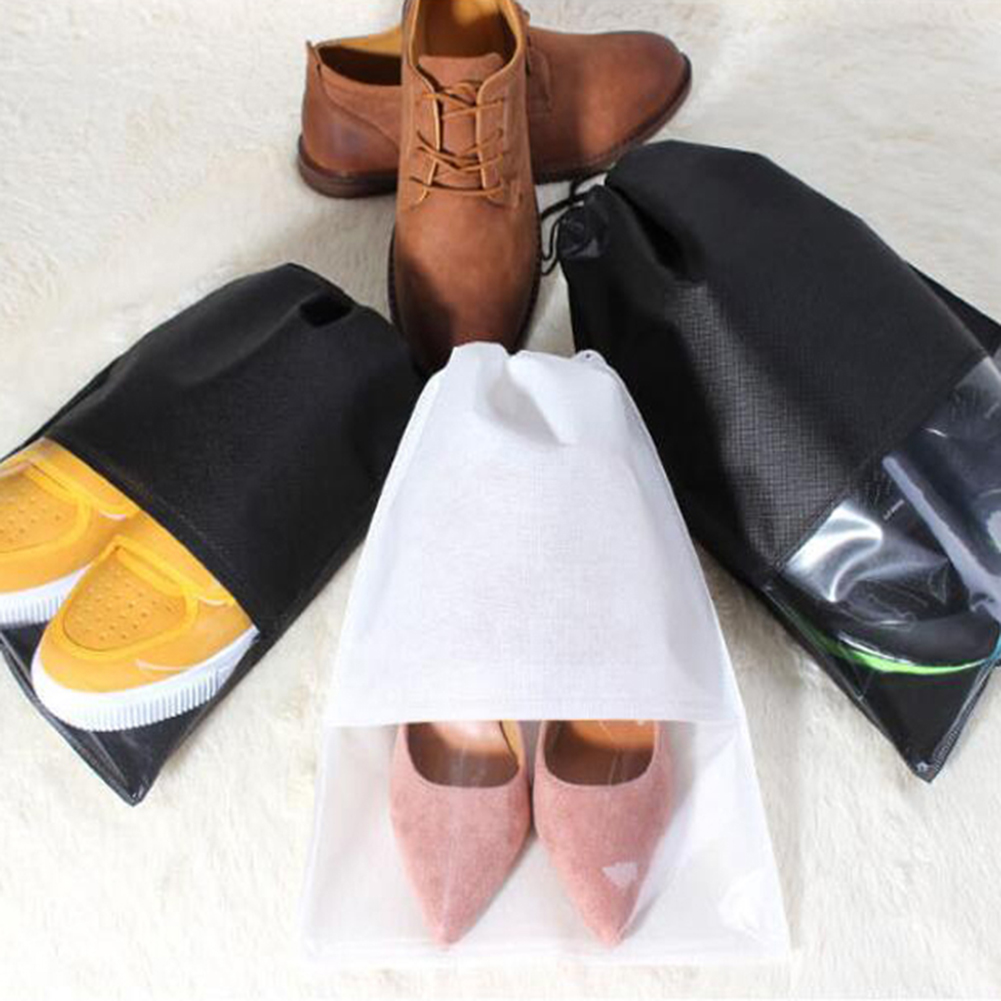 Women Men Shoes Bag Non-Woven Fabric Travel Drawstring Shoes Cloth Bags Pouch Case Organizer Travel Accessories
